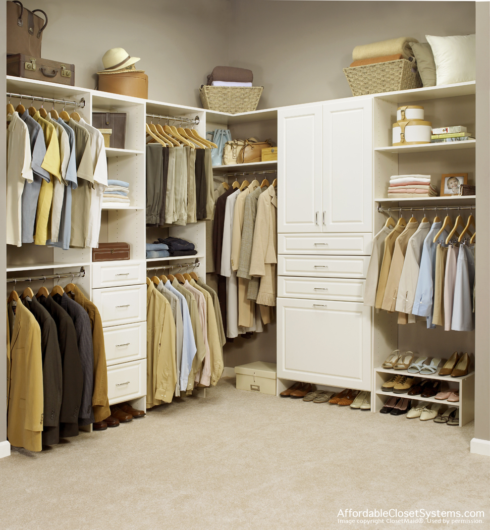Beau Closet   Antique White