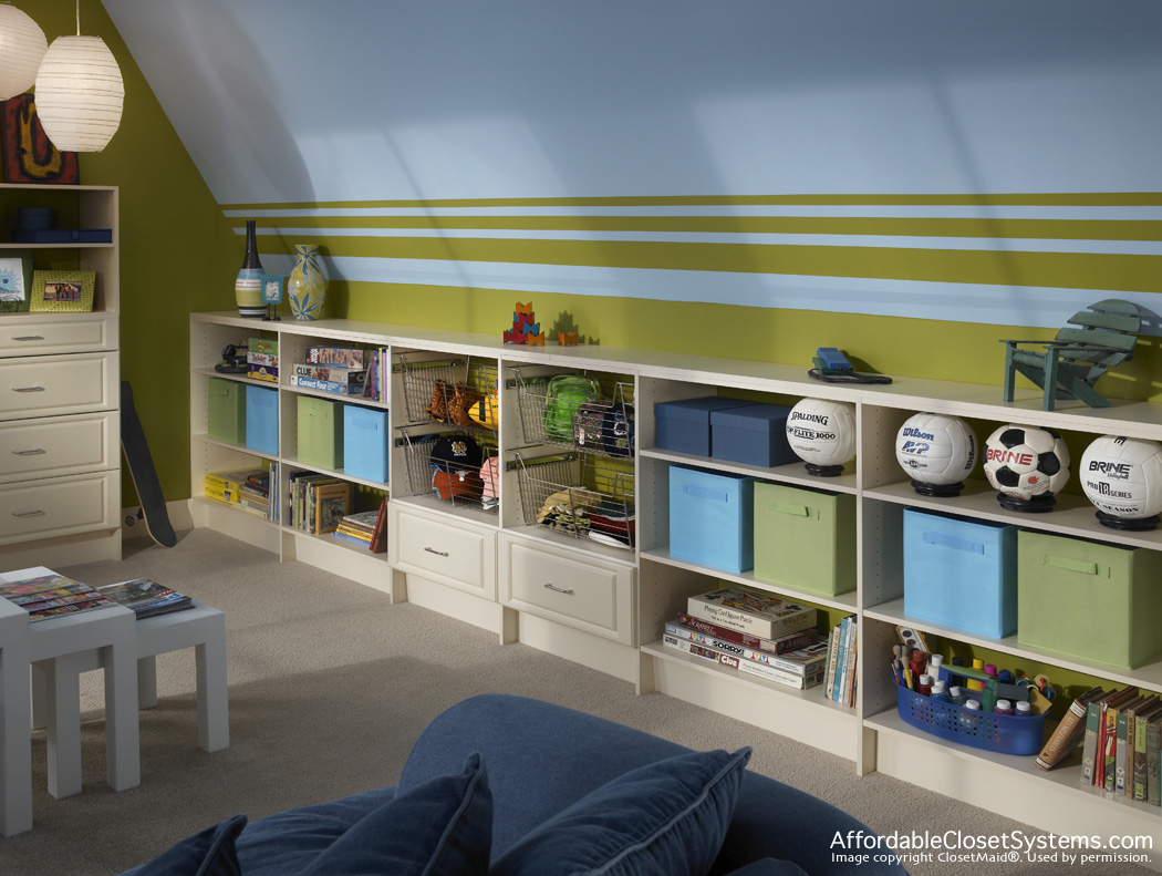 Accessories by affordable closet systems inc for Family home storage