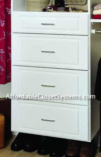White Drawers For A Closet Home Decor