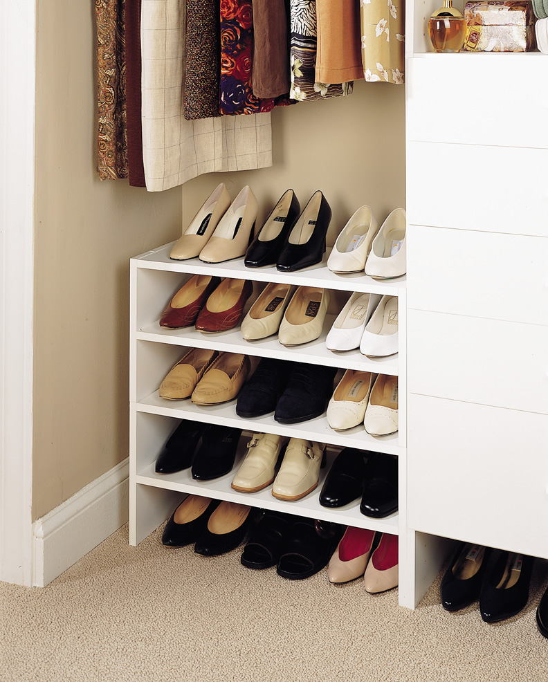 Shoe shelves for closetsconfession - Shoe organizers for small spaces design ...